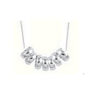 Amante Sterling Silver 7 Lucky Rings Anklet