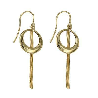 Amante 9ct Gold Sassy Drop Earrings