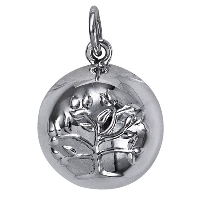 Amante Sterling Silver Harmony Tree Of Life Ball Pendant