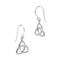 Amante Sterling Silver Small Triquetra Earrings
