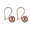 9ct Pink (Rose) Gold 8mm Euroball  Earrings