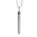 Amante Sterling Silver Italian Tassel Pendant with Matching Necklace