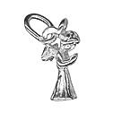 Amante Solid Sterling Silver Angel Charm Pendant