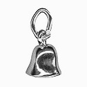 Amante Solid Sterling Silver Moving Bell Charm Pendant