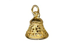 Amante Solid 9ct Gold Ringing Bell Charm Pendant