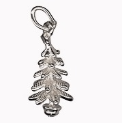 Amante Sterling Silver Solid Christmas Tree Charm Pendant
