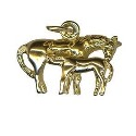 9ct Gold Horse and Foal Charm