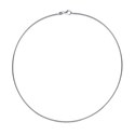 Amante Sterling Silver Italian Crafted Round Omega Necklace -45cm