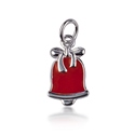 Amante Sterling Silver Red Enamel Bell Charm Pendant