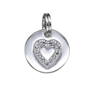 Amante Sterling Silver Heart Disc Pendant