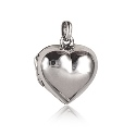 Sterling Silver  Small Polished Puffed Heart Locket -17mm