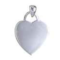 Sterling Silver Heart Engraving Pendant