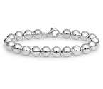 Amante Sterling Silver Polished 8mm Ball Bracelet