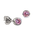 Sterling Silver October Birthstone Earrings
