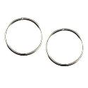 Sterling Silver Medium Plain Sleeper Earrings - 12mm