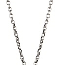 Amante Sterling Silver Oxidised Belcher Necklace - 50cm