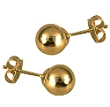 Amante 9ct yellow gold 6mm ball stud earring