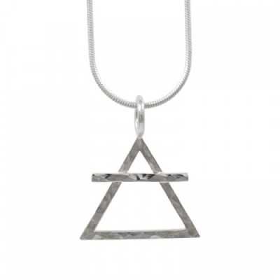 Amante Sterling Silver Alchemical Element Of Air Pendant
