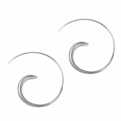 Amante Silver Spiral Earrings