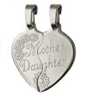 Silver Large Mother Daughter Heart Break-Share Pendant