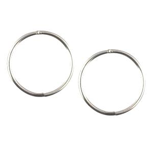 Sterling Silver Mini Plain Sleeper Earrings 8mm