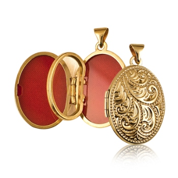 filled flowers lockets heart amazon dp engraved locket com yellow gold quot