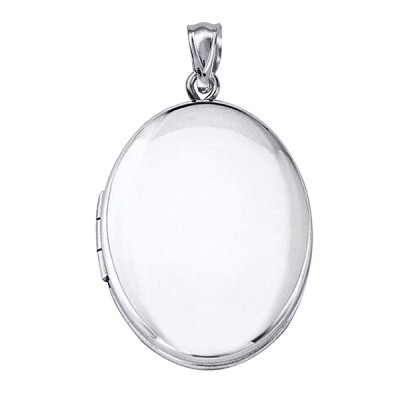 Amante Sterling Silver Polished Photo Memorial Oval Locket