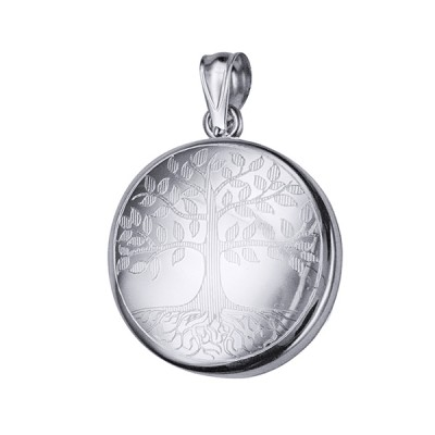 Amante Sterling Silver Tree Of Life Round Memorial Locket