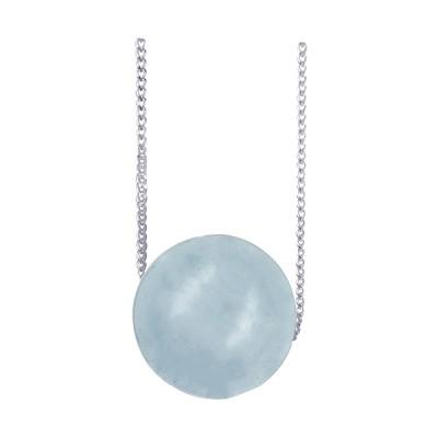 Amante Sterling Silver Aqua Pendant Necklace