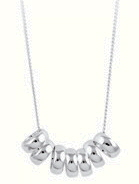 Amante Sterling Silver 7 Lucky Rings Necklace - 45cm