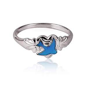 Sterling Silver Silver Bluebird Ring