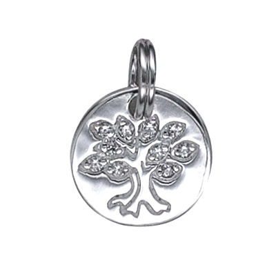 Amante Sterling Silver Tree Of Life Disc Pendant