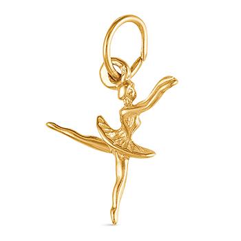 9ct Gold Ballerina Charm