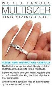 Ring Sizer Gauge