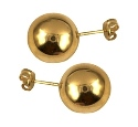 Amante 9ct yellow gold large 12mm ball stud earring