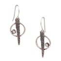 Amante Sterling Silver Atiqa Pearl Earrings