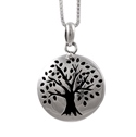 Amante Sterling Silver Tree of Life Aromatherapy Locket Pendant