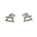 Amante Sterling Silver Element Of Air Stud Earrings