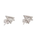 Amante Sterling Silver Element Of Earth Stud Earrings
