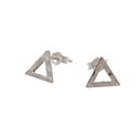 Amante Sterling Silver Element Of Fire Stud Earrings