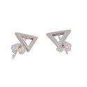 Amante Sterling Silver Element Of Water Stud Earrings