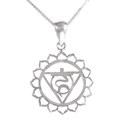 Amante Sterling Silver Vishuddha - Throat Chakra Pendant