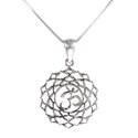 Amante Sterling Silver Sahasrara - Crown Chakra Pendant