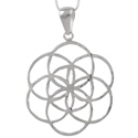 Amante Sterling Silver Circle Seed of Life Pendant