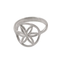 Amante Sterling Silver Seed of Life Ring