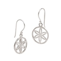 Amante Sterling Silver Seed of Life Drop Earrings