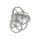 Amante Sterling Silver Full Form Seed of Life Ring