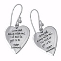 Poetic Pieces Silver Heart Earrings