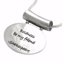 Poetic Pieces Silver Oval Pendant