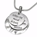 Poetic Pieces Silver Triple Disc Pendant